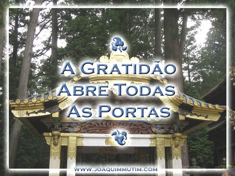 a gratidão abre todas as portas